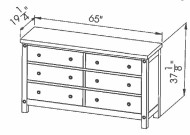 286-406 6dwr Chantry Dresser