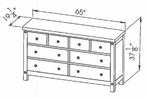 286-412 6d split Chantry Dresser