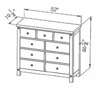 286-420 Mule Chantry Dresser