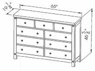 286-421 Mule Chantry Dresser