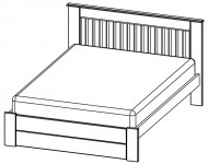 Classic on double sofa bed with storage
