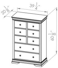 860-408 8 Drw Chest - Rustique