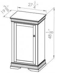 860-804-Rustique-Bookcases