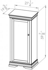 860-805-Rustique-Bookcases