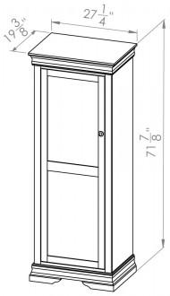 860-806-Rustique-Bookcases