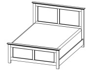 872-2260 Grey Roots Queen Bed