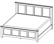872-2276 Grey Roots King Bed
