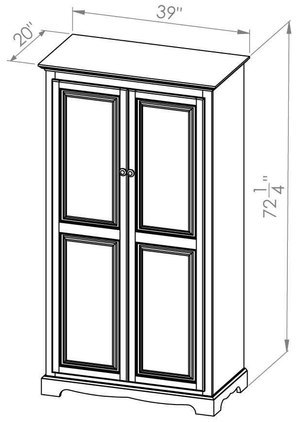 2 Door Armoire U2013 Thomas